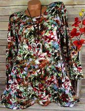 Leins Tunika Bluse Kleid Shirt Lagenlook Top  A-Form Longshirt Bunt  XXL 46 48