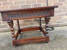 Old charm Jaycee Tudor style oak side table, coffee table phone table occasional