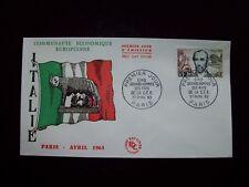 1963_ENVELOPPE 1er JOUR_FDC_CELEBRITES DE LA CEE-MAZZINI (ITALIE).