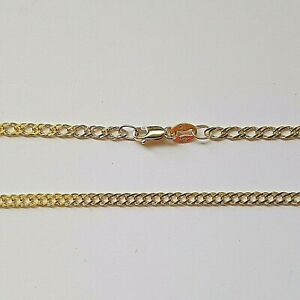 NEW Genuine 9ct Solid Yellow Gold Oval Double Curb Diamond Cut Ladies Anklet