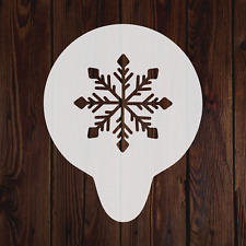 Snowflake mylar stencil snow winter painting crafting art decorating flexible