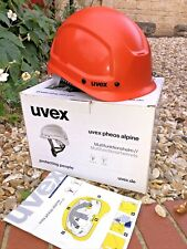 Uvex Pheos Alpine Helmet 977325 Hi-Vis Orange Climbing Rescue Work At Height