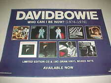 "David Bowie ""Who Can I Be Now"" Promo Only Poster - 18 x 24 - perfect cndt"