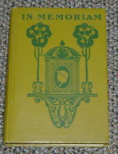 In Memoriam A H H Alfred Lord Tennyson Mershon Company Hardcover Antique