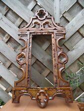 Marco Antiguo Roble Gótico Renacimiento Tallada-proyecto de restauración