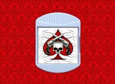ACE SKULL SPADE GUNS TATTOO PISTOL BIKER FRIDGE MAGNETIC MEMO NOTE CHIP BAG CLIP