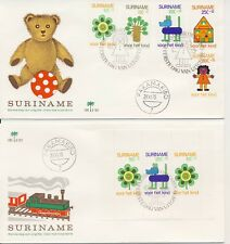 Suriname - E101 en E102 (Kinderzegels 1973) -  Blanco / Open klep