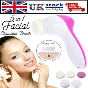 Electric Facial Face Spa Cleansing Brush Beauty Cleanser Exfoliator C7 5 in1
