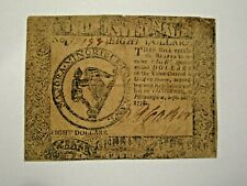 Us Continental Currency, $8 Sept 26 1778 Fine