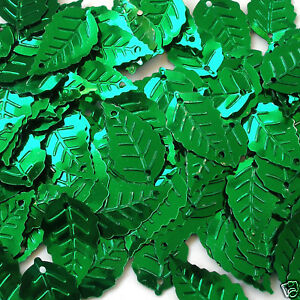 Sequins Leaves/Leaf Loose Various Colors Green Gold Blue Lime Pink etc.