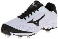 Mizuno 9 Spike Vapor Elite 7 Low Metal Baseball Cleats NEW White/Black 320443