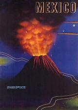 Mexico - Volcan Paricutin - 1930's - Travel Poster