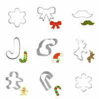 Christmas Cake Cutter Mold Cookie Biscuit Fondant DIY Kitchen Baking Tools Decor