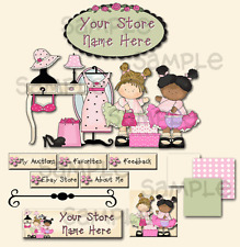Lil' Girls Dress Up Boutique COMPLETE EBAY STORE DESIGN