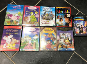 Kids dvd Bundle Matilda, Valiant, An American Tail, Angelina Ballerina ...