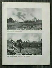 AQ) Blatt 2.WK 1940 brennendes Janow MG Komp Inf. Polen Gefangene Soldaten WWII
