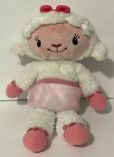 "Disney Doc Mcstuffins - Cuddles and Hugs Light-Up Talking Plush Lambie -16"" VGC"