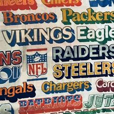 Vintage NFL Pillow Case  Pillowcase Defunked Teams Fabric 70s 80 Football Gift