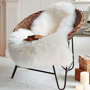 Soft Faux Sheepskin Fur Area Rug for Chair Couch Cover Bedroom Floor