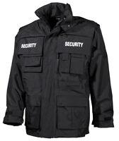 MFH Jacke Security Securityjacke Anorak Parka Einsatzjacke Schwarz S-4XL