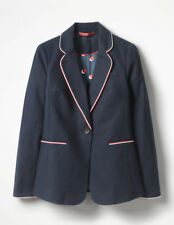 Boden Ladies Lilah Cotton Blazer Navy Size 6 Petite Bnwt