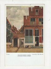 The Little Street In Delft by Vermeer Vintage Art Postcard 371a