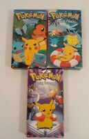 Lot Of 3 Pokemon VHS Shows