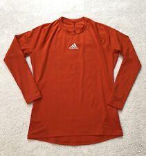 Adidas Techfit Men's Compression Long Sleeve Shirt XL Orange Climacool
