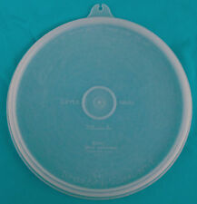 """1950s TUPPERWARE 6¼"""" Seal Lid (C) #227 with small tab, """"Millonaire Line""""  EUC"""