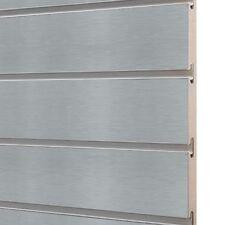 6 x Slatwall/Slatboard grey panels 4ft x 4ft with free inserts