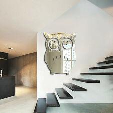 3D Mirror Wall Sticker Owl Decal DIY Home Room Art Mural Decor Removable New