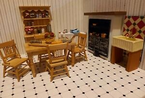 High End 12th Scale Dolls House Kitchen Set and Accessories