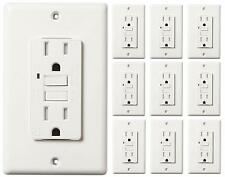 15 A AMP GFCI GFI Safety Outlet Receptacle UL Listed Tamper Resistat TR WR -10PK