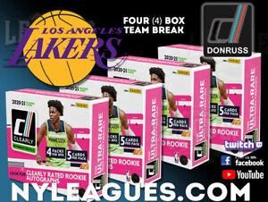 2020-21 Panini Clearly Donruss 4 Box Break   Lakers   #CD1