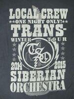 LOCAL CREW - TSO TRANS SIBERIAN ORCHESTRA WINTER TOUR - XL - BLACK T-SHIRT- C410