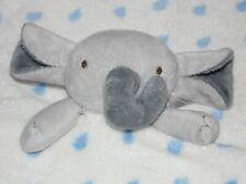JAINCO WHITE ELEPHANT COMFORTER SOFT TOY BLUE RAINDROPS BLANKIE DOUDOU