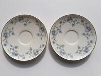 Graziosi piattini in porcellana  - Fiori blu bordo oro -Johann Haviland Bavaroa