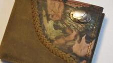 ZEP PRO Cotton Logo Bifold Leather Fence Row Camo Wallet tin gift box