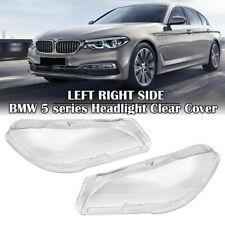 2x Headlight Cover Clear Lens For BMW 5 Series F10 LCI F11 LCI F18 LCI 520 523