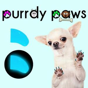 Soft Nail Caps For Dog Claws ( BLUE GLOW ) * Purrdy Paws * 7 Sizes up to Jumbo