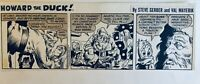 VAL MAYERIK HOWARD THE DUCK ORIGINAL DAILY STRIP - 12/28/1977 Bronze Age