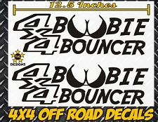 4x4 BOOBIE BOUNCER Truck Decal MATTE BLACK for Chevy Silverado GMC SIerra