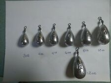 12oz Bass Casting 12 Sinkers