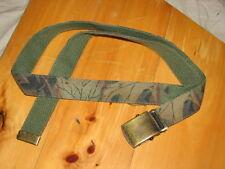 green camo tru-leaf hunting belt reversible Od green army style hunting archery