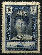 Curacao 1928-32 SG#116a, 15c Indigo Queen Wilhelmia P12.5 Used #D43849