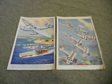 Two colour aviation prints by Captain W. E. Johns (author of Biggles)