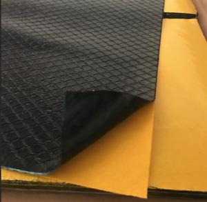 Feuille  de bitume adhésive insonorisante 50X25 cm plaque d'insonorisant goudron