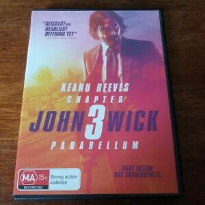 John Wick 3 Parabellum DVD R4 Like New! FREE POST