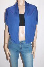 nichii Brand Royal Blue Short Sleeve Cardigan Size S BNWT #SM43