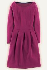 NEW $138 BODEN TEXTURED COTTON BLEND ORCHID LINDSEY PONTE DRESS WH718 - US 4P